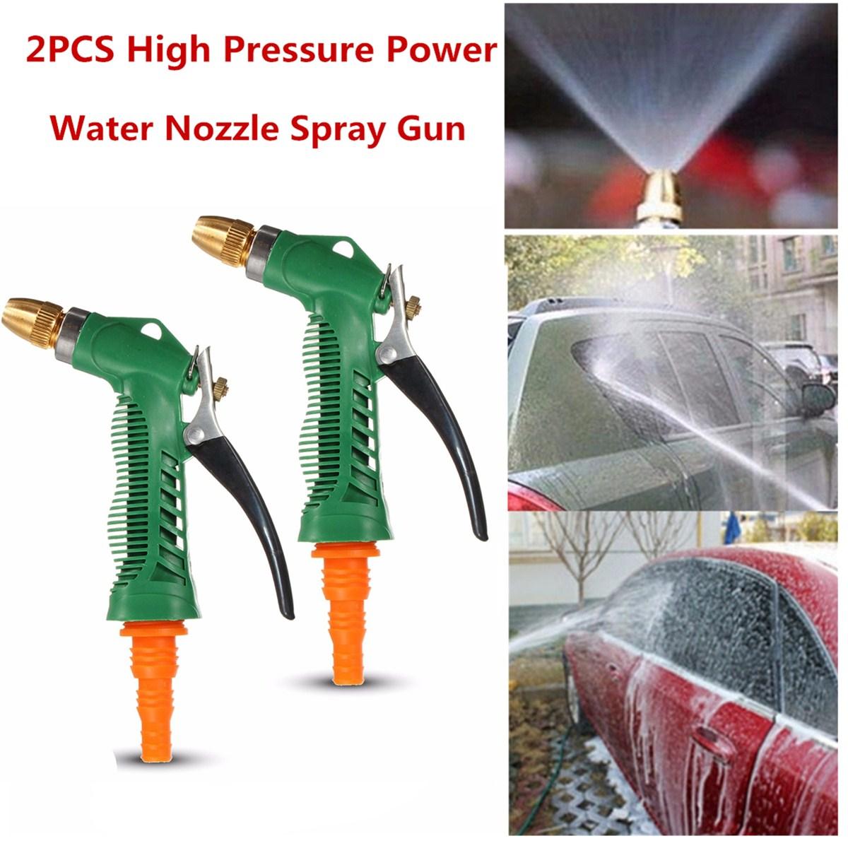 2 PCS Garden Hose Spray Gun Nozzle Sprayer Heavy Duty Metal Easy Flow Water Spray Gun Control Setting Ergonomic Trigger High Pressure Spary Nozzle for Car Washing /Plant Water 16.5