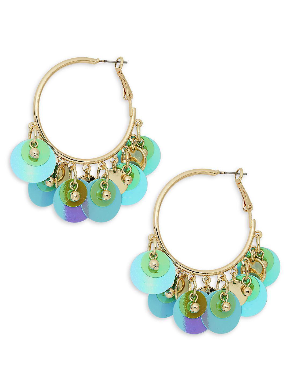 Round-Shaped Drop Hoop Earrings