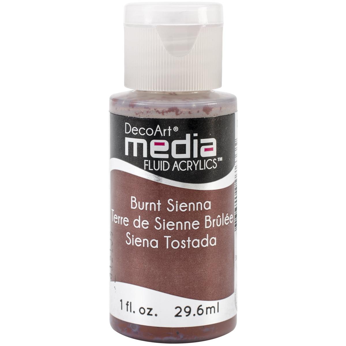 Media Fluid Acrylic Paint 1oz-Burnt Sienna (Series 1)