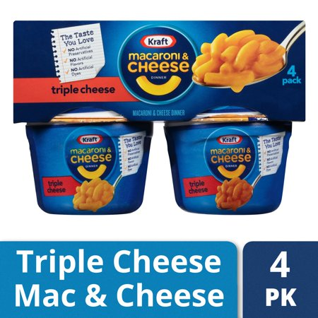 Kraft Dinner Halloween ((2 Pack) Kraft Easy Mac Macaroni & Cheese Dinner Triple Cheese Flavor, 4 - 2.05 oz Microwavable)