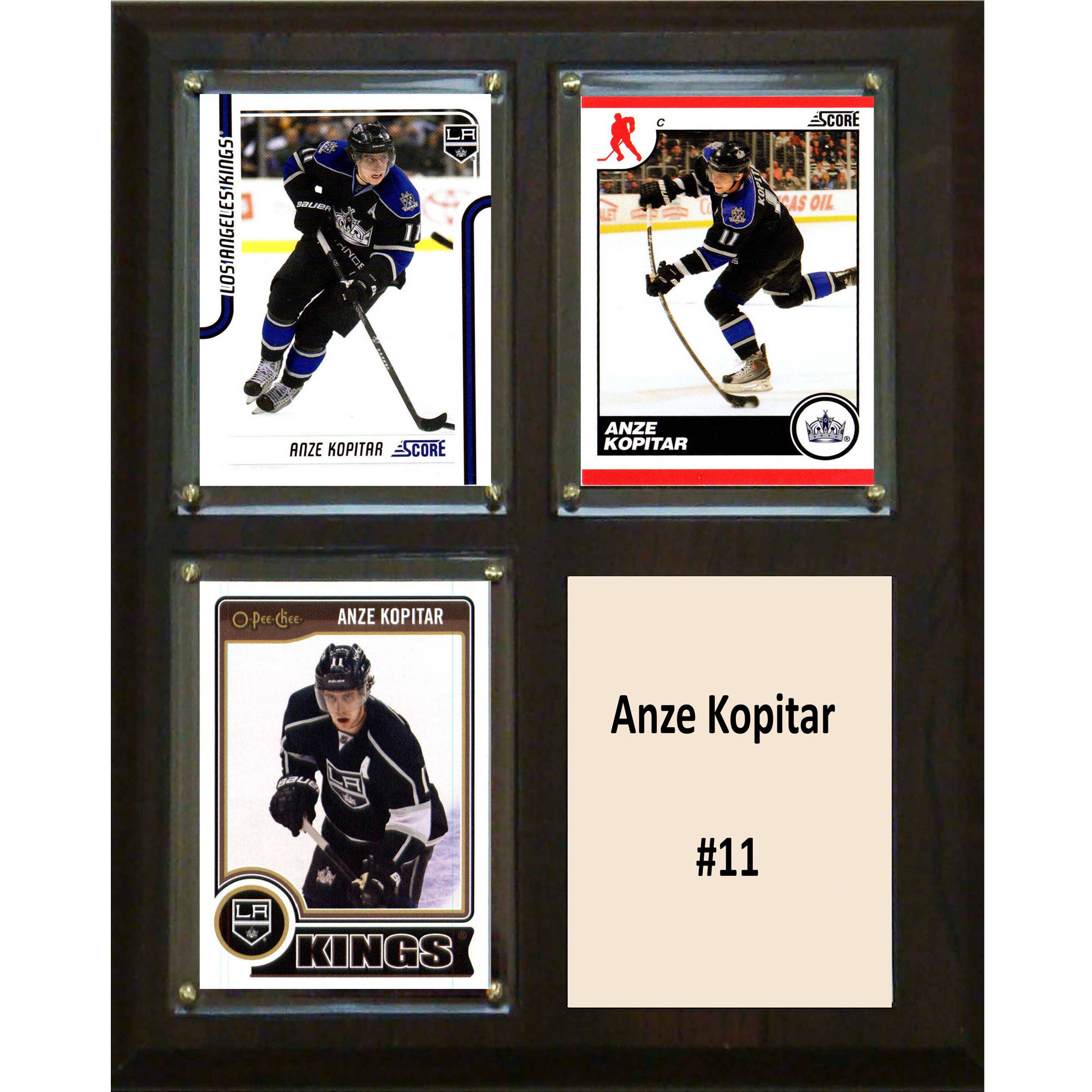 C&I Collectables NHL 8x10 Anze Kopitar Los Angeles Kings 3-Card Plaque