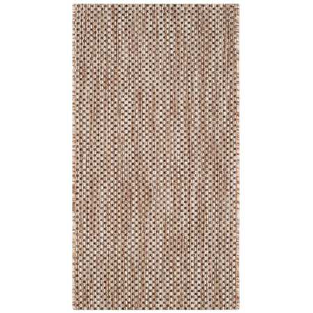 Safavieh Courtyard 8' X 11' Power Loomed Rug in Natural and Black - image 4 de 4