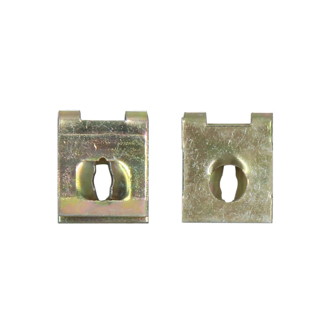 4pcs 5mm Dia Car Screw U-Clips Rivets Door Panel Retainers Fasteners 15 x 12mm - image 2 de 3