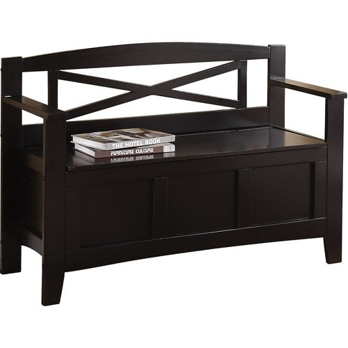 Office Star Products Metro Entryway Bench, Black