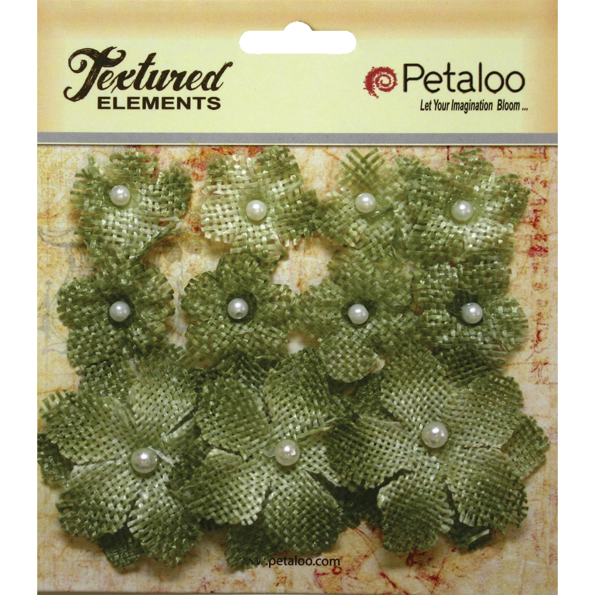Textured Elements Burlap Mini Flowers .75 Inch To 1.5 Inch 11/Pkg-