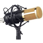 Microphone Kit Computer Condenser Mic with Arm Sound Card Filter Windbreak for Gaming Podcasting Live Streaming Music Recording