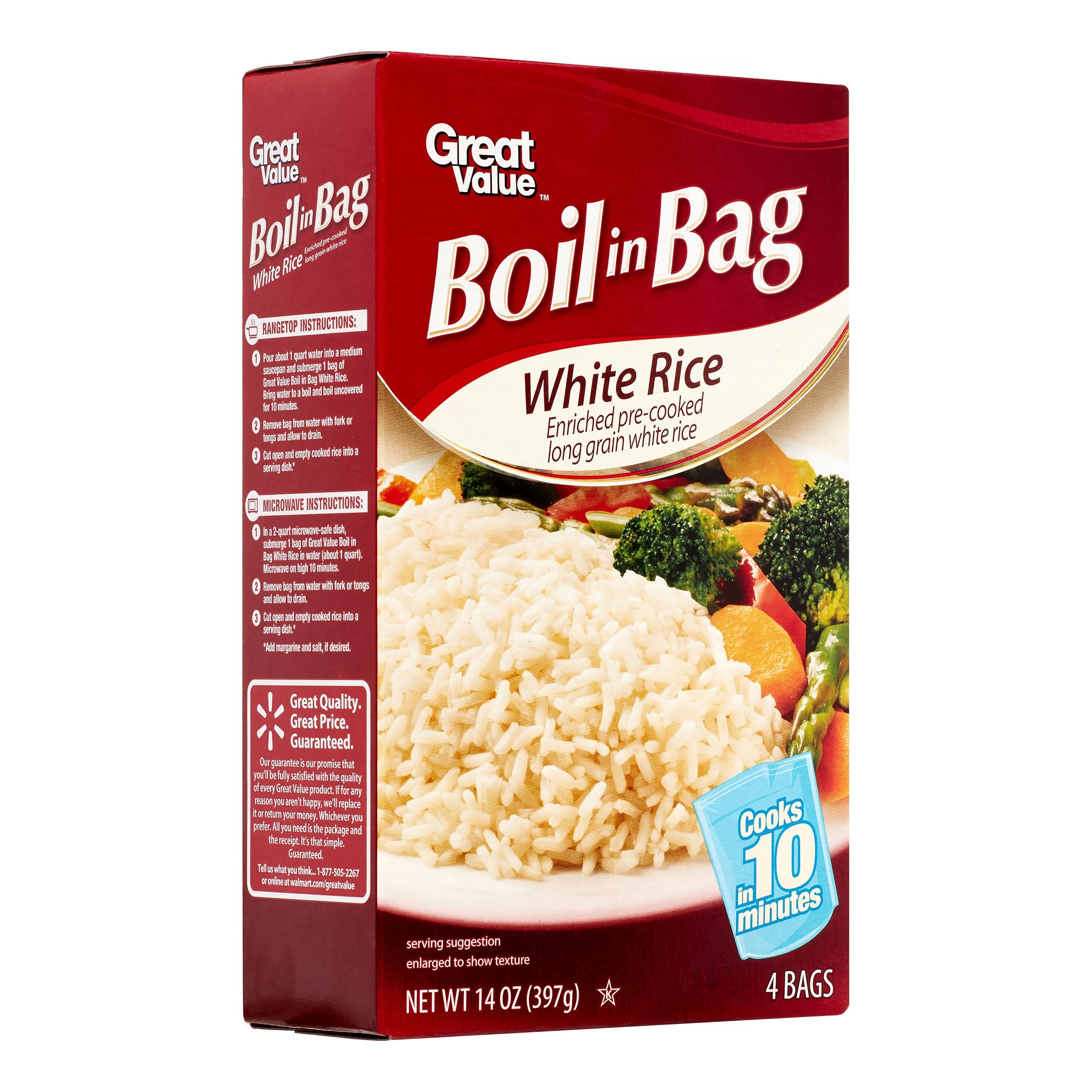 White Rice Boil In Bag 14 Oz