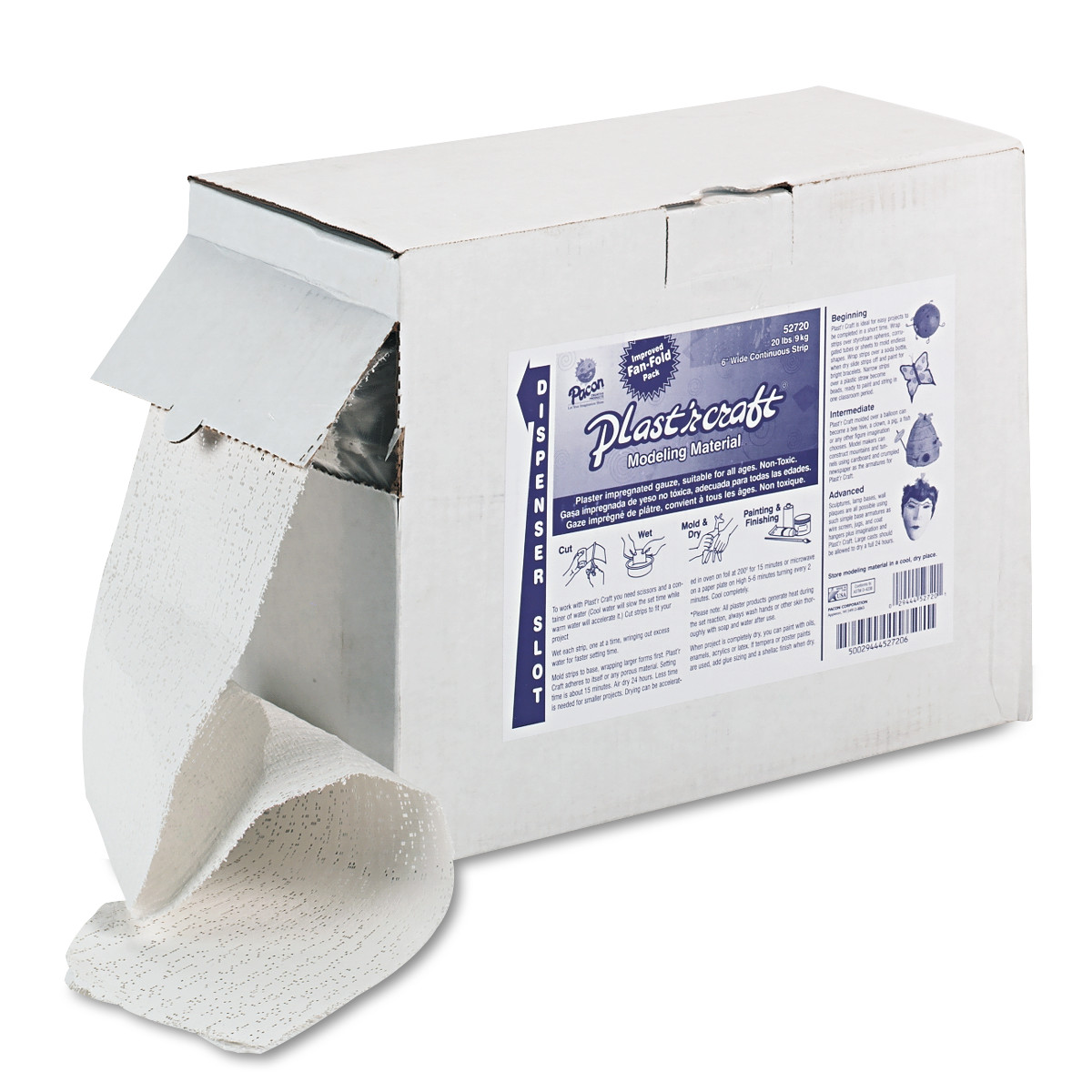 Pacon Plast'r Craft, White, 20 lbs