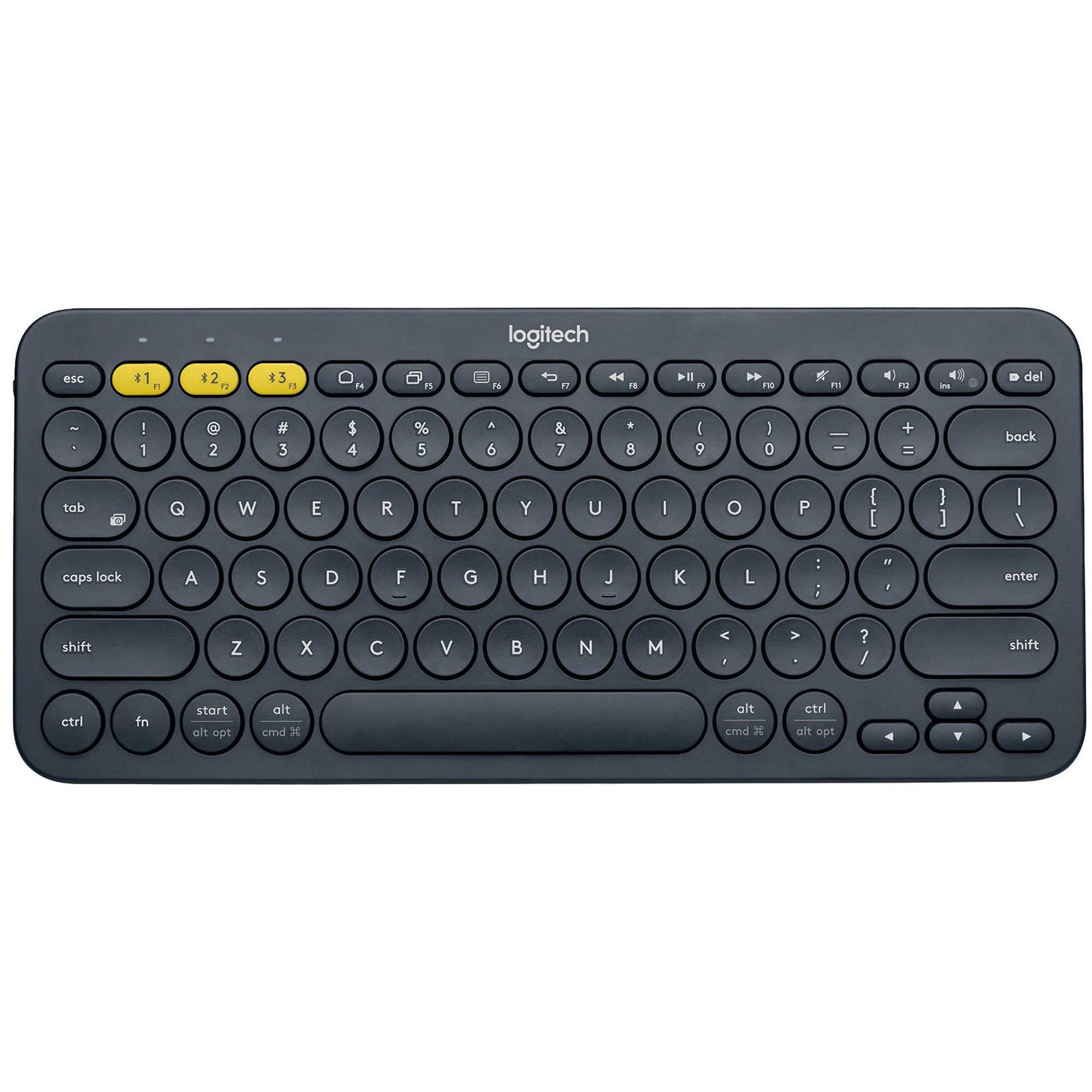 Logitech K380 Bluetooth Keyboard, Dark Gray