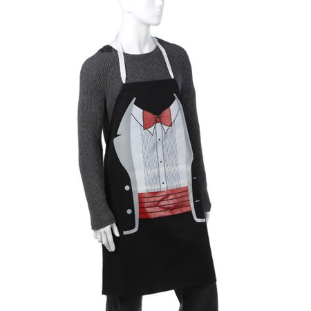 L.A. Imprints 2082 Poly Cotton Tuxedo Apron in Black