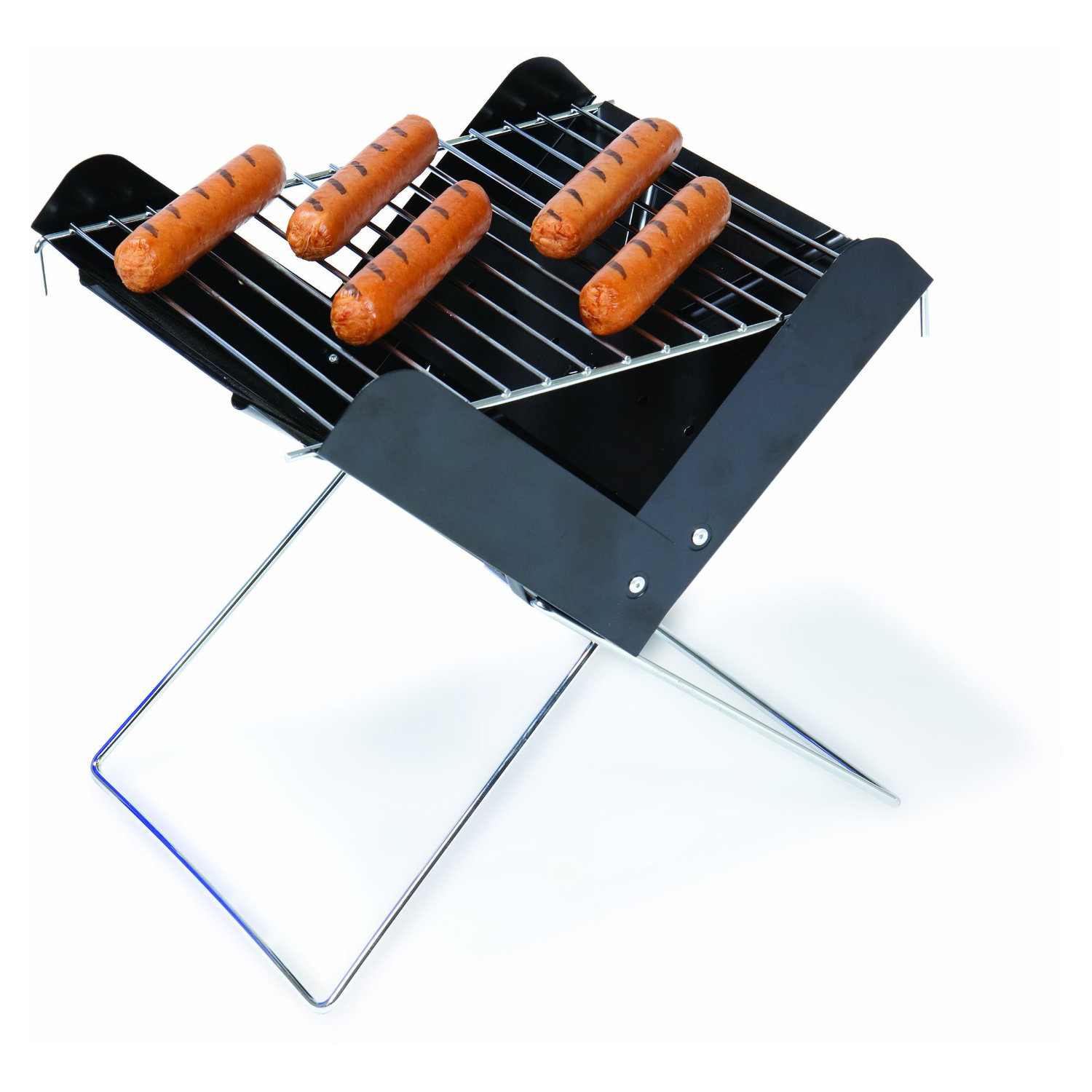 Picnic Time Portable Folding Charcoal BBQ Mini Grill with Carrying Tote