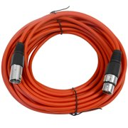 Seismic Audio  Red 50' XLR Microphone Cable - Patch Cord Red - SAXLX-50Red