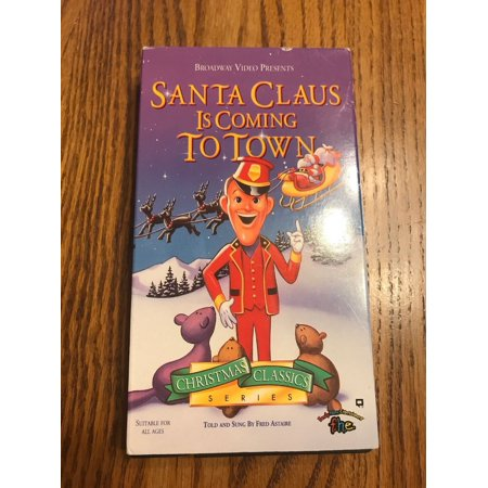Santa Claus is Coming to Town Christmas Classic Series VHS Ships N - Halloween Town Vhs