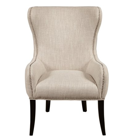 Pri Seraphine Mink Upholstered Wingback Chair