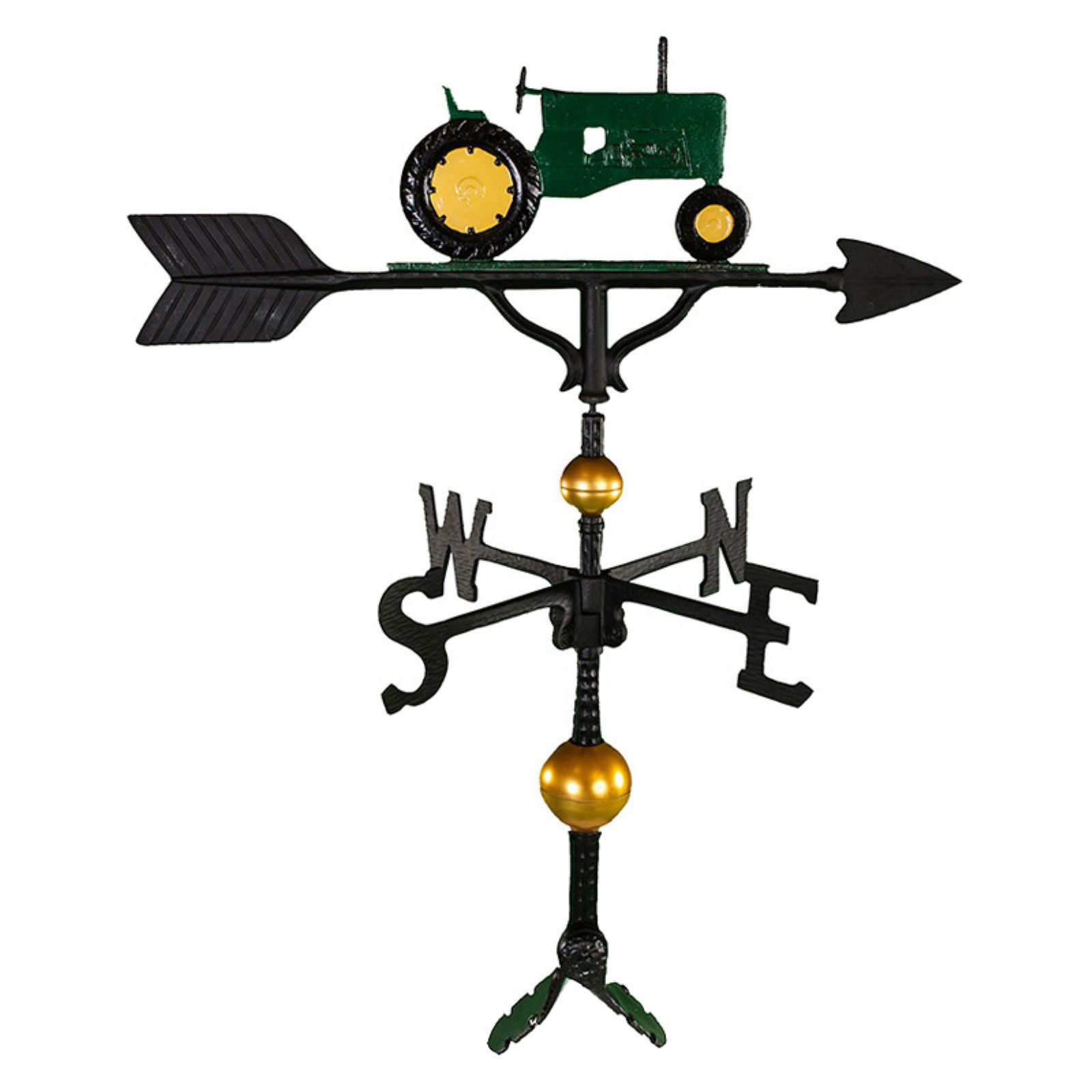 Deluxe Green Tractor Weathervane 32 in. by Brand New