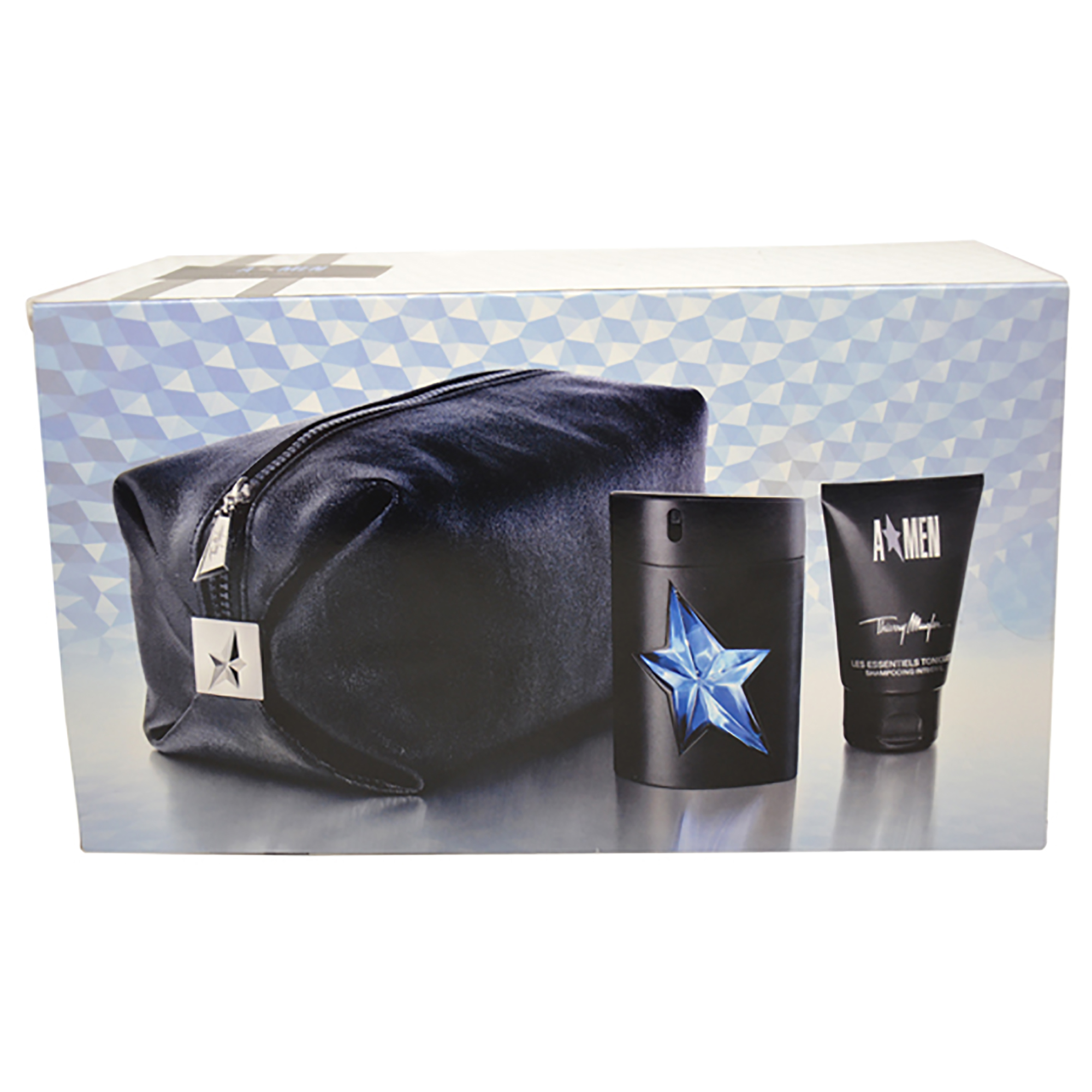 Angel by Thierry Mugler for Men - 2 Pc Gift Set 1.7oz EDT Spray (Rubber Flask), 1.7oz Shampooing Integral