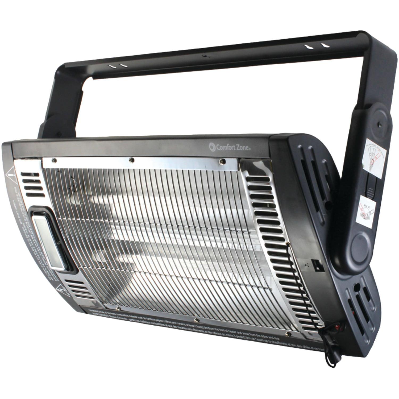Comfort Zone 326211 1,500-Watt Ceiling-Mount Quartz Heater