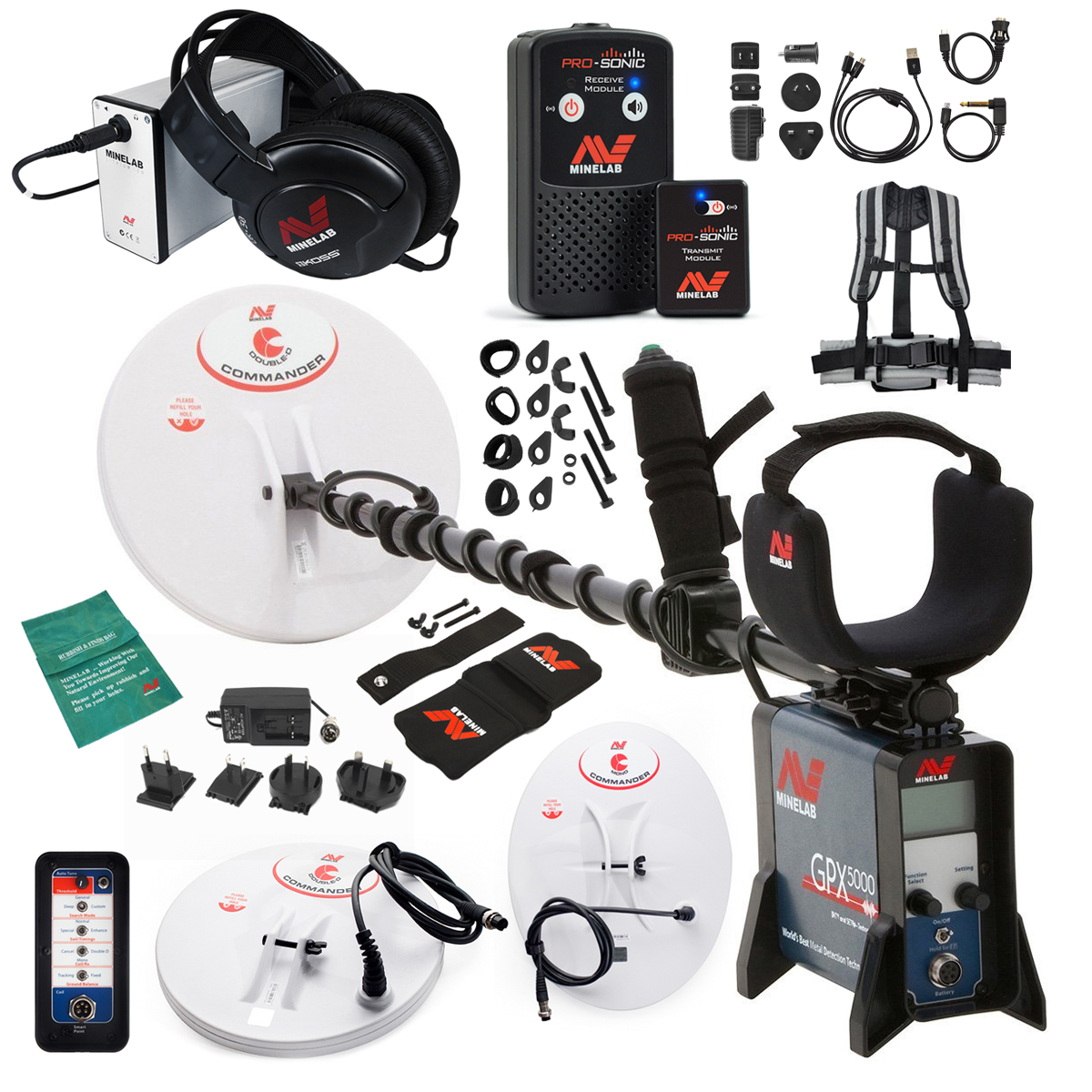 Minelab GPX 5000 Metal Detector Special with PRO-SONIC Wireless Audio System by