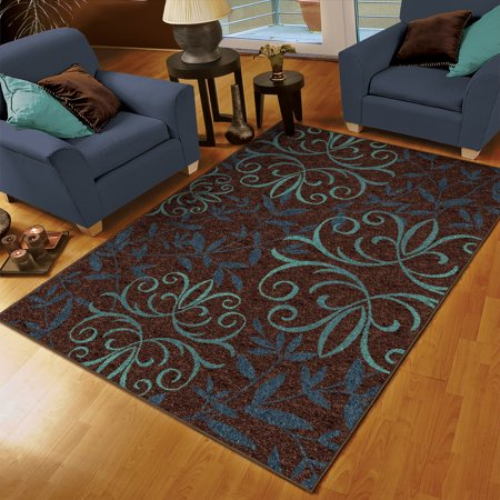 orian voyager area rug blue 5 3 quot x 7 6 quot walmart 87751