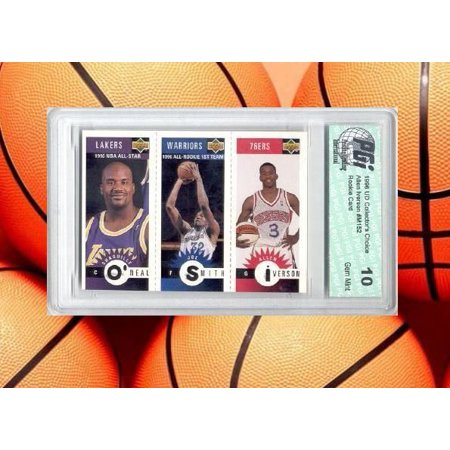 low priced 2643f 7810f Allen Iverson Collectors Choice Rookie Card PGI 10 Shaq