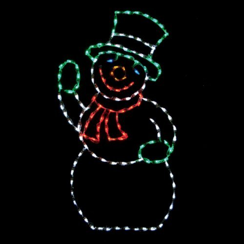 56 in. Outdoor LED Snowman Display - 150 Bulbs