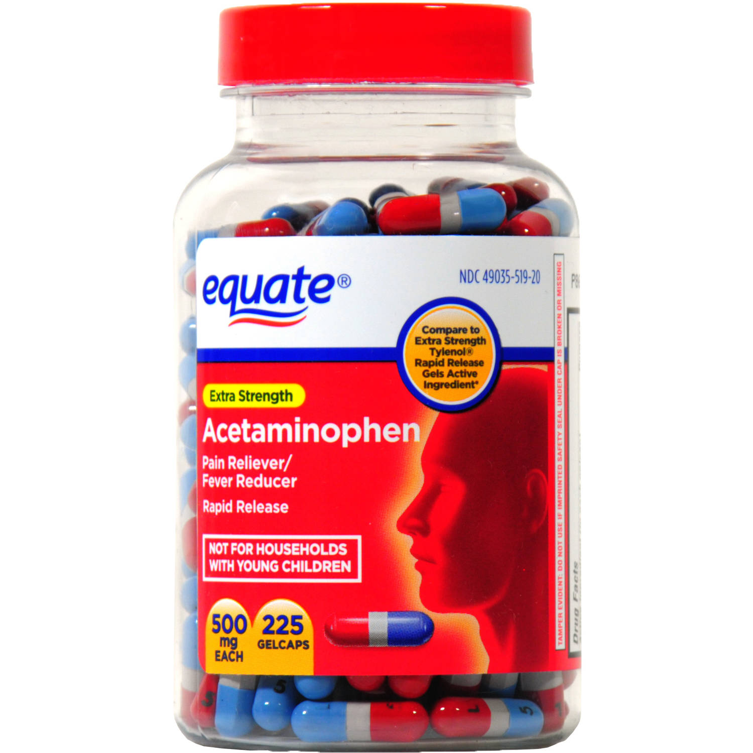 Equate Pain Reliever Rapid Release, 225ct