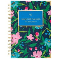 "Simplified for AT-A-GLANCE Academic Weekly/Monthly Hardcover Planner, 6"" x 8"", Navy Floral (ELW20-200A-21)"