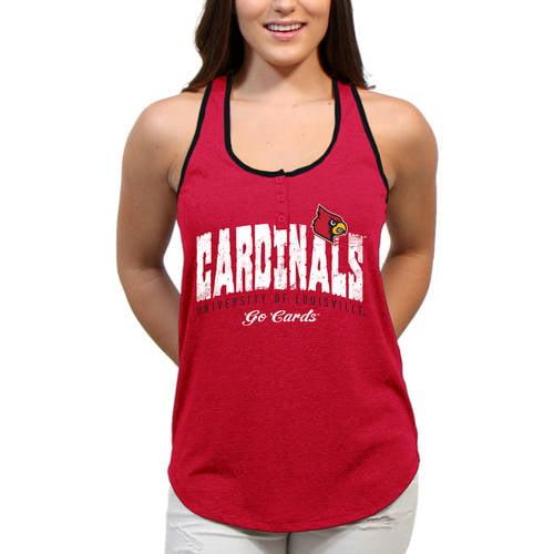 Louisville Cardinals Choppy Arch Women'S/Juniors Team Tank Top