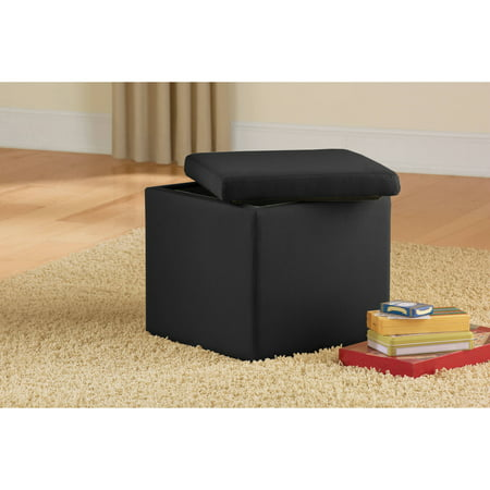 Mainstays Faux Suede Ultra Storage Ottoman Multiple