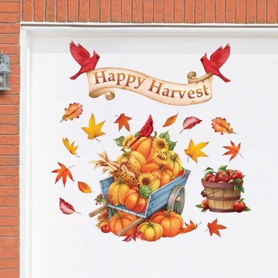 Happy Harvest Fall Pumpkins Garage Door Magnets Thanksgiving Autumn Yard - Happy Halloween Garage Door Magnets
