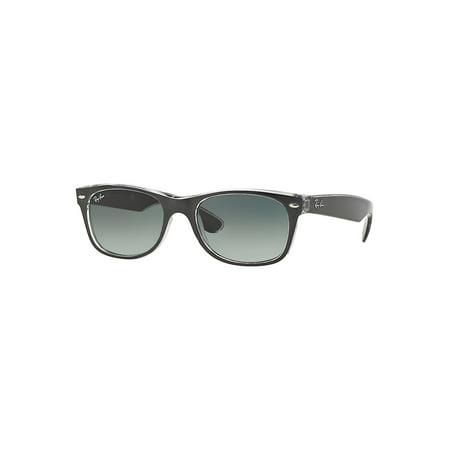 Unisex RB2132 New Wayfarer Sunglasses, (Green Ray Ban Wayfarer)