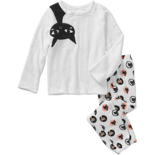 Gyrl Co. Girls' 2 Piece Plush Top with Ears and Pants Sleepwear Set