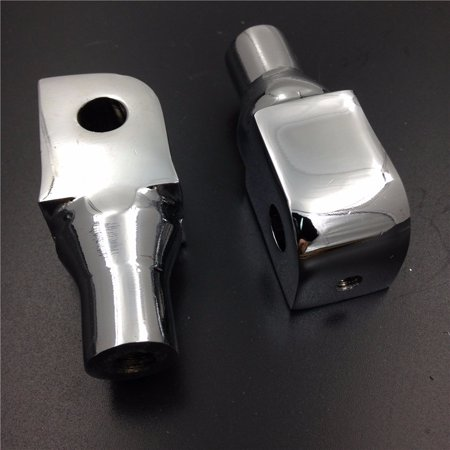 HTT-MOTOR Chrome Foot Pegs installation Part Connection Fittings for Honda Shadow VTX Valkyrie Aero Spirit Magna VLX