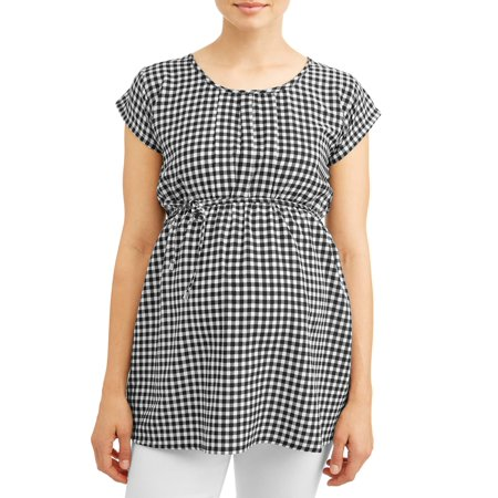 Oh! MammaMaternity gingham top - available in plus sizes - Halloween Maternity Shirts Plus Size