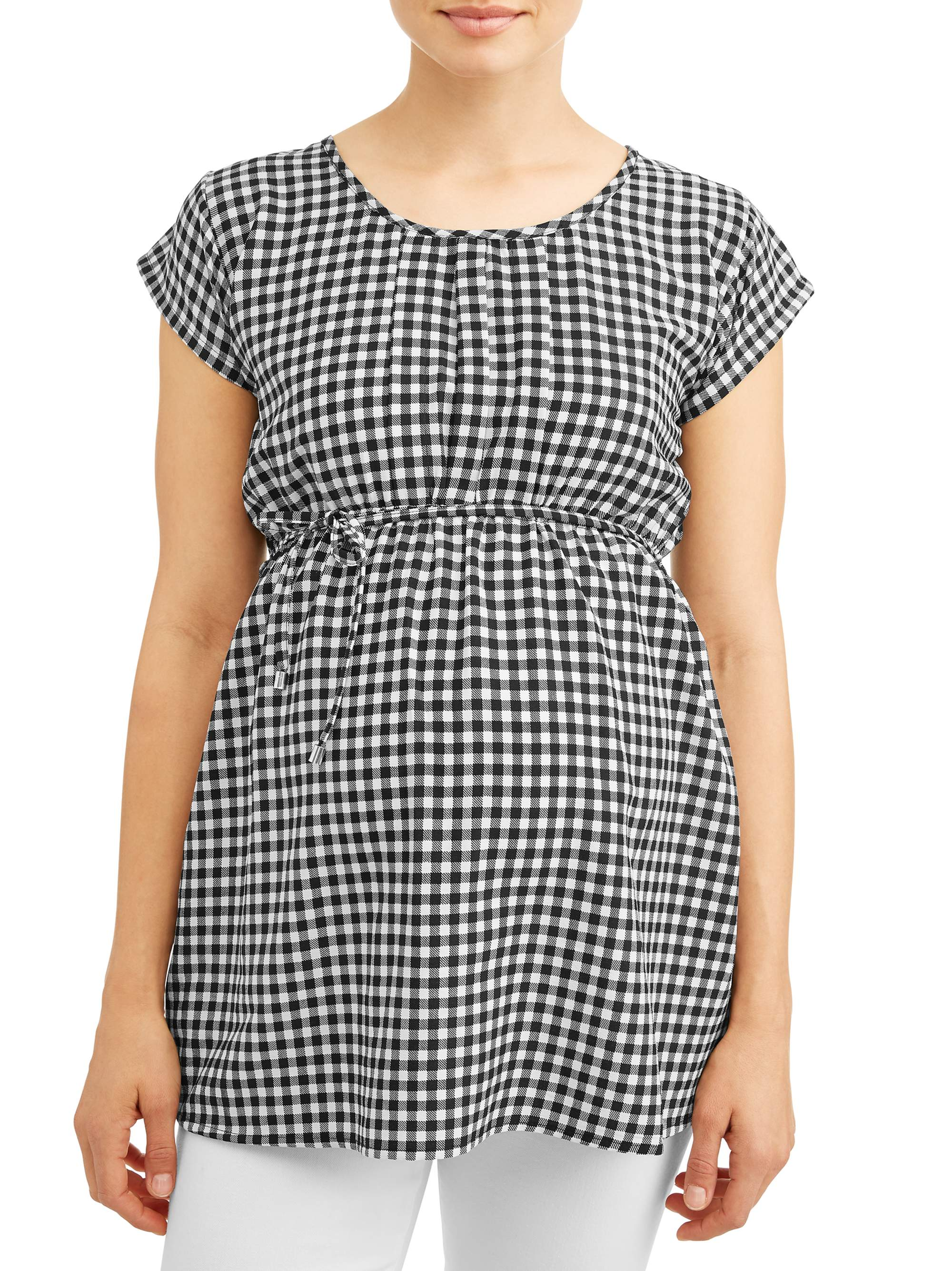 Maternity Gingham Top - Available in Plus Sizes