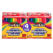 Cra-Z-Art Classroom Pack 10 Count Classic School Markers (40 Total Markers)