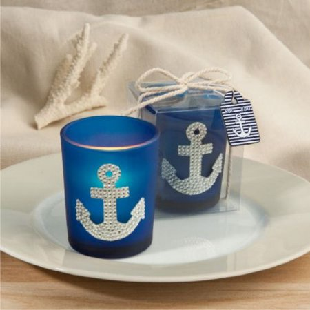 Spectacular anchor design candle favors [SET OF 1] By Fashioncraft