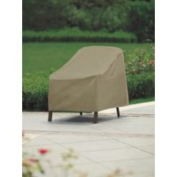 Modern Leisure 3134D Basics Outdoor Patio Chair Cover - Water Resistant (27 L x 34 D x 31 H inches), Khaki/Fossil