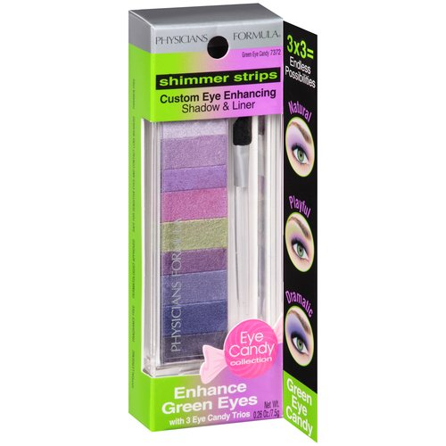 Physicians Formula Shimmer Strips Custom Eye Enhancing Shadow & Liner, Green Eye Candy 7372