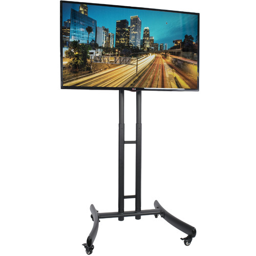 """VIVO TV Cart for LCD LED Flat Screen Mount Stand w/ Mobile Wheels fits 30"""" - 70"""""""