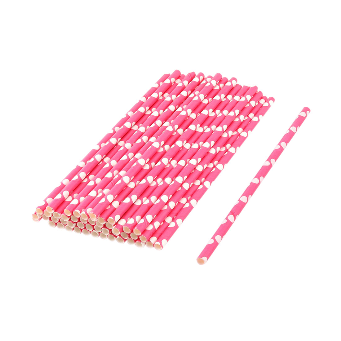 Home Paper Dots Pattern Coffee Juice Drinking Strawss 50ct