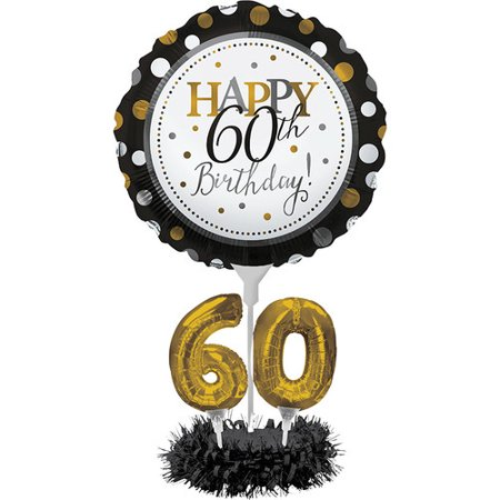 The Party Aisle 60th Birthday Balloon Centerpiece - 60th Birthday Accessories