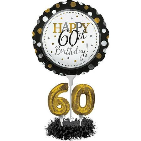 The Party Aisle 60th Birthday Balloon Centerpiece Kit - 60th Birthday Hat