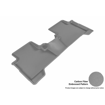 3D MAXpider 2016-2017 Ford Escape Second Row All Weather Floor Mat in Gray with Carbon Fiber Look
