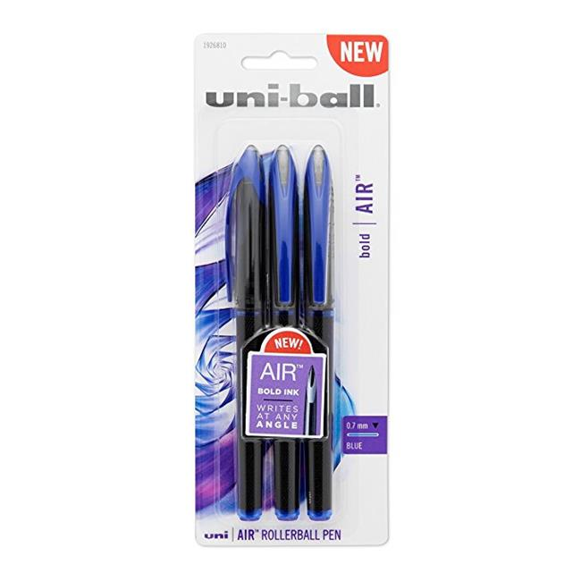 Uni Ball 1926810 0.7 mm Blue Air Fine Point Rollerball Pen - Pack of 3 - image 1 de 1
