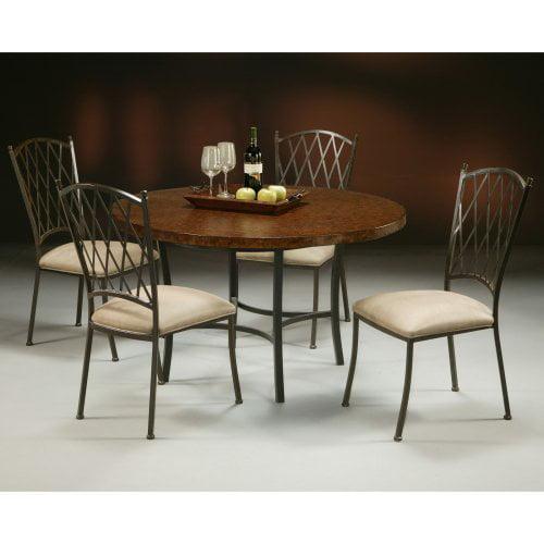 Pastel Atrium 5 pc. Copperstone Top Dining Table Set