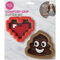 Wilton Rosanna Pansino Comfort Grip Cutter Set, Red Heart Cookie Cutter, Ro