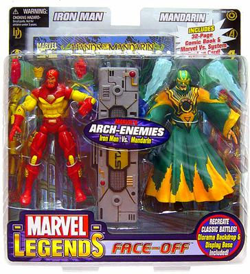 Marvel Face Off Series 2 Iron Man vs. Mandarin Action Figure