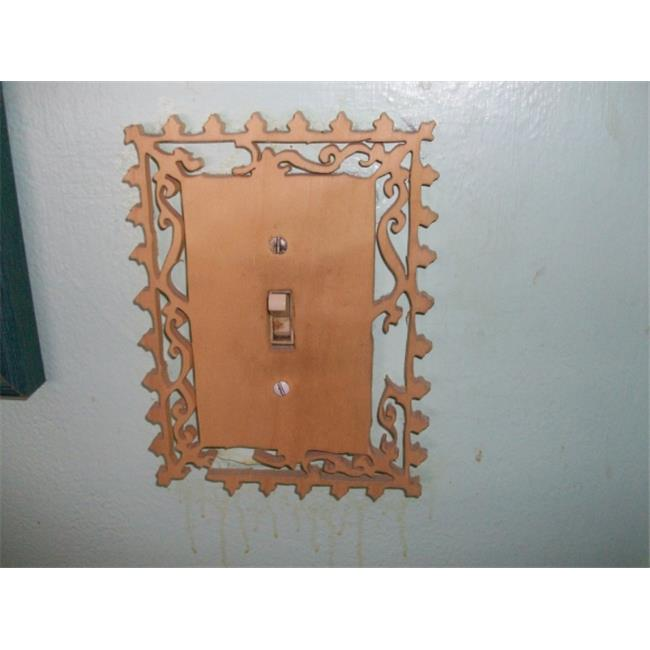 Fine Crafts 929HOU Single wooden switch plate cover