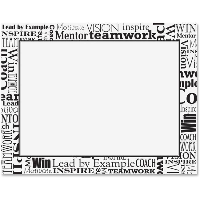 Geographics GEO48608 8.5 x 11 in. Words Award Certificate Black & White by GEOGRAPHICS